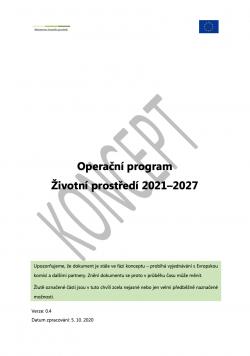 Operační program Životní prostředí 2021–2027
