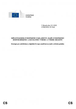 Strategie pro udržitelnou a digitální Evropu zaměřená na malé a střední podniky