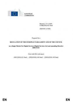 Vlastní návrh Aktu o digitálních službách