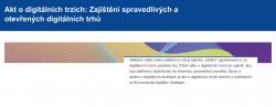 Akt o digitálních trzích: zajištění spravedlivých a otevřených digitálních trhů