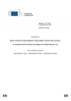 Vlastní návrh Aktu o digitálních trzích