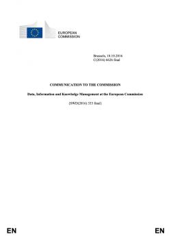 Správa dat, informací a znalostí v Evropské komisi