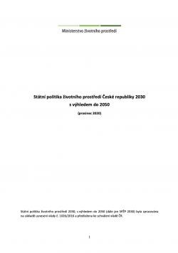 Státní politika životního prostředí 2030 s výhledem do 2050