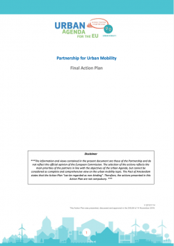Urban Mobility Action Plan