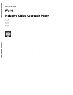 Inclusive Cities Approach Paper