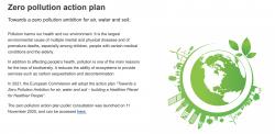 Akční plán pro nulové znečištění ovzduší, vod a půdy