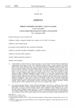 Směrnice o omezení dopadu některých plastových výrobků na životní prostředí