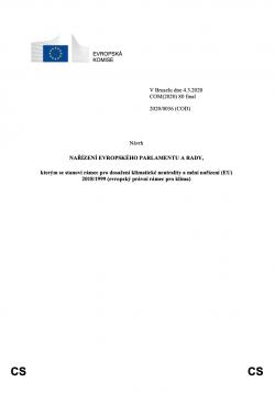 Návrh evropského klimatického zákona