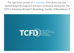 Task Force on Climate-related Financial Disclosures (TCFD)