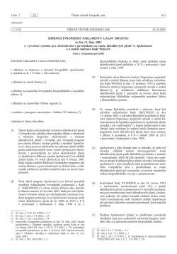 Směrnice 2003/87/ES o vytvoření systému pro obchodování s povolenkami na emise skleníkových plynů