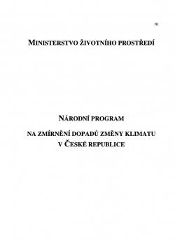 Národní program na zmírnění dopadů změny klimatu v České republice