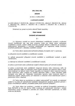 Zákon č. 201/2012 Sb., o ochraně ovzduší, ve znění pozdějších předpisů