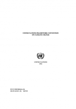The United Nations Framework Convention on Climate Change – UNFCCC