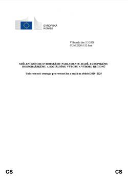 Strategie pro rovnost žen a mužů na období 2020–2025