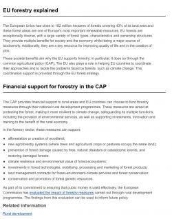 Strategie EU v oblasti lesnictví na období 2014–20