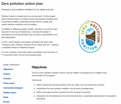 Zero pollution action plan for water, air and soil