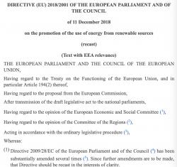 Směrnice o podpoře využívání energie z obnovitelných zdrojů