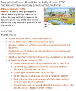 Evropský právní rámec pro klima