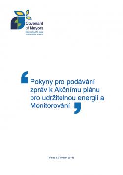 Pokyny pro podávání zpráv k Akčnímu plánu pro udržitelnou energii a Monitorování