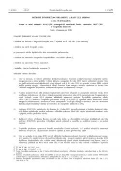Směrnice o energetické náročnosti v budovách (EPBD) 2018/844/EU