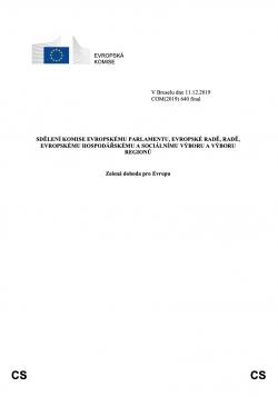 Zelená dohoda pro Evropu 2019