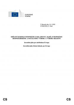 Investiční plán pro udržitelnou Evropu – Investiční plán Zelené dohody pro Evropy