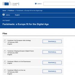 Informační listy: Evropa připravená na digitální věk