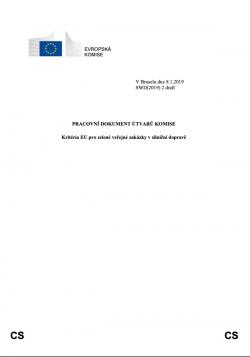 Kritéria EU pro zelené veřejné zakázky v silniční dopravě
