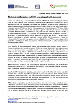Předběžná tržní konzultace na MPSV – dva roky pozitivních zkušeností