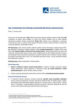 Stanovisko ARI k metodě zadávání Design-Build pro dopravní a pozemní stavby
